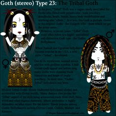 Goth Type 23: The Tribal Goth by ~Trellia on deviantART