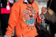 Street Style from London Fashion Week Feb 2013 tiger