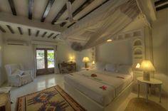 Deluxe room on ground floor of Villa Kusi, Majlis hotel, Lamu, Kenya
