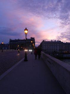 Coucher de soleil, Paris, France