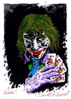 """DANIELE DE CRESCENZO  """"Joker""""  #danieledecrescenzo, #joker, #sketch"""