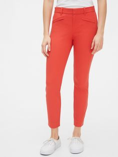 Granny Chic, Plus Size Shopping, Ankle Pants, Vintage Style Outfits, Welt Pocket, Capri Pants, Coral, Spandex, Skinny