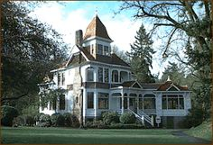 Historic Deepwood Estate. Built in 1894, this Queen Anne style house is in Salem, Oregon.