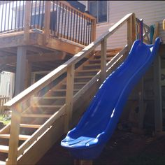 Who Needs Stairs When You Have A Slide Off The Deck Still Finishing Up