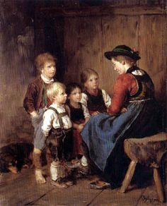 Franz von Defregger - Child scene
