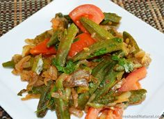 Spicy Okra- Indian Bhindi Masala  Here is a delicious dish with wonderful mix of healing herbs and spices. Click on the link for full recipe details...  #Ayurveda #Healing #Wellness #Recipes #Ayurvedic Healthy Cooking, Healthy Recipes, Cook At Home, Recipe Details, Healing Herbs, Easy Food To Make, Okra, Health Foods, Dumplings