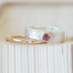 Pink tourmaline Storybook ring from Alison Moore Designs