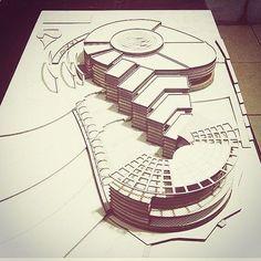 "1,233 curtidas, 21 comentários - Modern Architecture (arqmodel) no Instagram: ""Creative "" #modernarchitecturemodel"