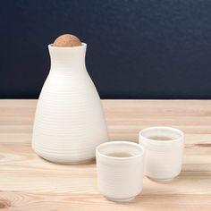 Acanalado Sake Set por PigeonToeCeramics en Etsy