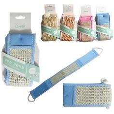 Adaptable Back Strap Shower Scrubber Luffa Sponge Bath Back Body Loofah Exfoliator Organic Health & Beauty