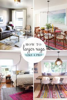 How to layer rugs like a pro... I layered rugs in my house and my family thought I was crazy...layering rugs is a thing :)