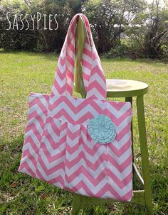 SassyPies....  The Cassie Pink chevron with mint by sassypies, $53.00
