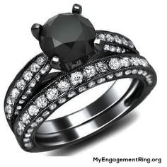 pitch black diamond – unusual engagement ring - My Engagement Ring