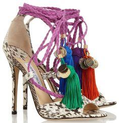nova 2014 marca designer mulheres de salto alto sandálias plus size 42 atada verão sapatos com borla gladiador bombas para as mulheres em Sa... 77$