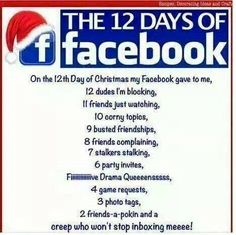 Most Funny Quotes : Dump A Day Afternoon Funny Pictures - 56 Pics - Quotes Boxes Facebook Drama, Facebook Jail, Facebook Humor, 12 Days Of Christmas, Christmas Humor, Christmas Poems, Christmas Cartoons, Christmas Cards, Xmas