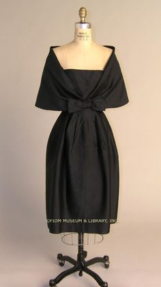 Cocktail dress, 1957-9, Simonetta. FIDM Museum and Library
