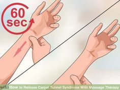 How to Release Carpal Tunnel Syndrome With Massage Therapy. Carpal tunnel syndrome is caused by a compression of the median nerve at the wrist and is associated with numbness, tingling, pain or a dull ache in the fingers, hand or wrist. Hand Massage, Massage Tips, Massage Benefits, Massage Techniques, Massage Therapy, Massage Chair, Massage Body, Carpal Tunnel Relief, Carpal Tunnel Syndrome
