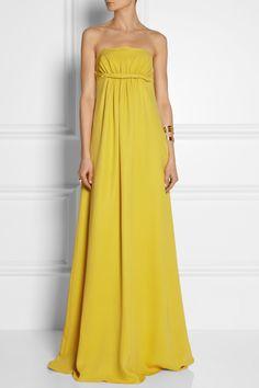 Derek Lam Twist-front silk-crepe gown NET-A-PORTER.COM