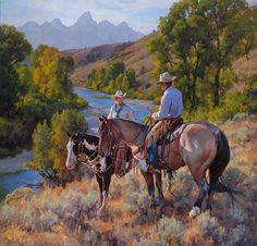 """River Overlook, Gros Ventre River Ranch"" by Jason Rich (Cowboy Artist)"