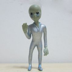 9CM 3.5inch VINTAGE Toys 1996 ALIEN SERIES UFO ROSWELL