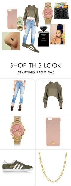 """Chill_Laxed"" by savagelife01 on Polyvore featuring BCBGeneration, Michael Kors, Tory Burch, adidas Originals and Fremada"