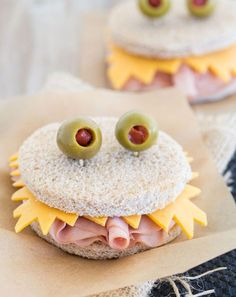 Make Cute Monster Sandwiches For  Lunch Box