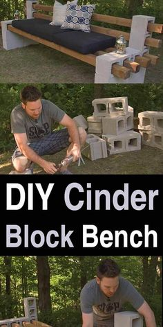 DIY Cinder Block Bench