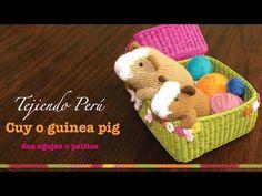 Cuy o guinea pig tejido en dos agujas o palitos (Parte 1)