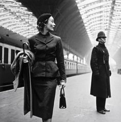 Lady at train station