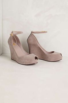 Anthropologie - Flocked Rain Wedges