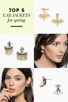 Ear jackets are the perfect way to glam up your Spring look! Shop this hot trend at BaubleBar.com!