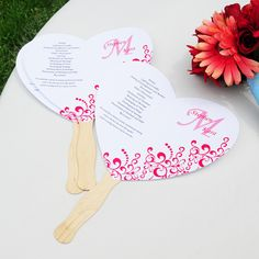 personalized wedding fans | Diy Wedding Program Fans Wedding Invitations Create Custom | Personal ...