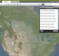 Continental Divide Trail Coalition interactive map of CDT Hiking