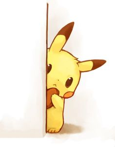 Shy Pikachu. The adorableness from this is just too much for me to handle :3