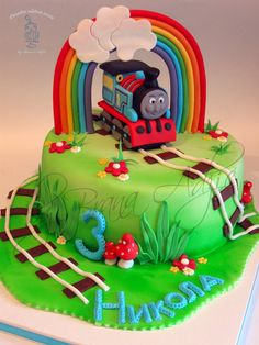 Locomotiva Tomas - by carobniuzitakcakes @ CakesDecor.com - cake decorating website