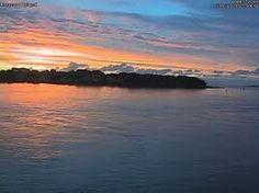 Sandbanks at sunset