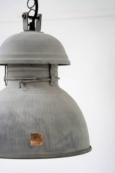 HK Living Industriële warehouse lamp L zink