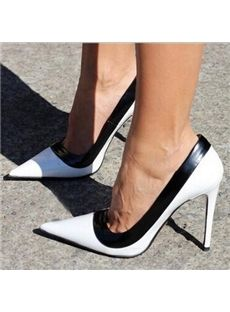 New Fashion Contrast Color Stiletto Heels - Shoespie.com