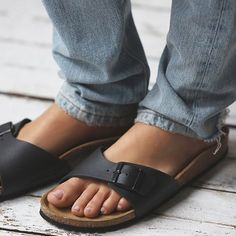 Birkenstock Madrid Birko-Flor Sandals One strap slide, perfect with casual…