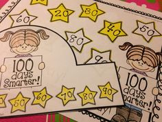 100th Day of School - FREE crowns, bookmarks, coloring pages and certificate!