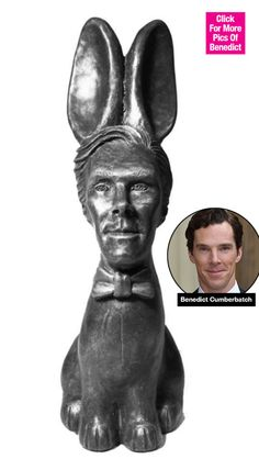 How's THIS for an Easter surprise? Benedict Cumberbatch fans can literally take a bite out of the Oscar-nominated actor if they're craving a chocolatey treat. With Benedict's face, rabbit ears, and a bunny's body, you've NEVER seen -- or tasted -- the British actor like this before!