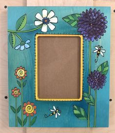 Mirror Painting, Tole Painting, Painting Frames, Painting On Wood, Painted Picture Frames, Stick Art, Madhubani Painting, Frame Crafts, Art Furniture