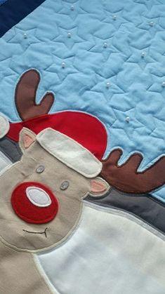"""Nähe einen individuellen  Adventskalender-Quilt """"Oh my Reindeer!"""" Sewing, Christmas Eve, Tutorials, Dressmaking, Couture, Stitching, Sew, Costura, Needlework"""