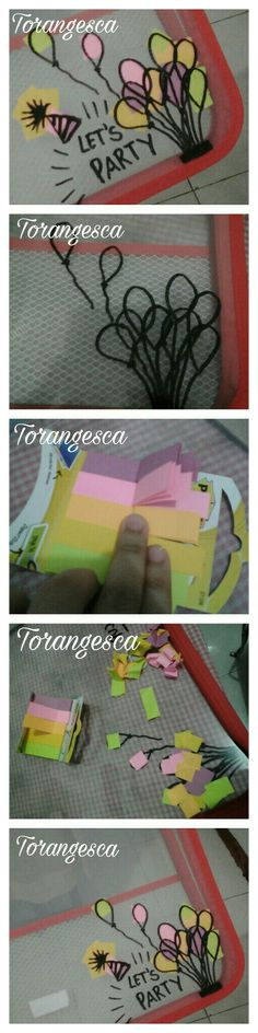 How to make your boring document keeper into a cool document keeper with simple marker drawing and some post-it  #torangesca #DIYStuff #postit #simple #drawing