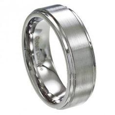 Colbalt Chrome Mens Ring