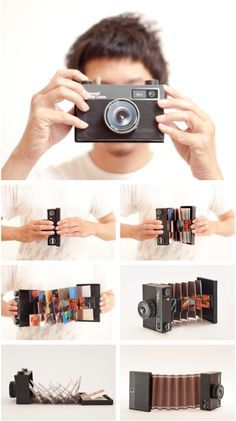 """Diy """" Camera """" album for pictures Cute Gifts, Diy Gifts, Handmade Gifts, Diy Pinterest, Diy And Crafts, Paper Crafts, Diy Birthday, Diy Cards, Boyfriend Gifts"""