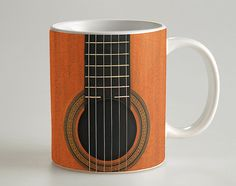 Classic Guitar 11 oz Coffee Mug These mugs made of high quality ceramic and the artwork created using a specialized printing process that thermally