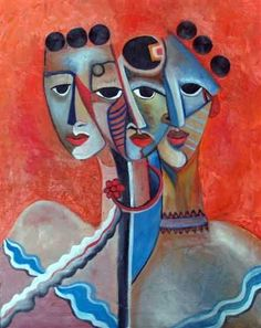 Sisters by Niki Sands - Sisters Painting - Sisters Fine Art Prints and Posters for Sale