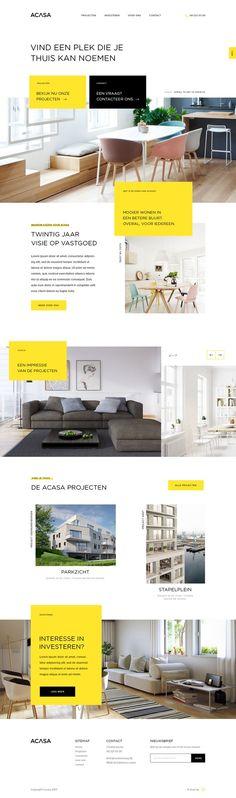 Beautiful interior and exterior website design website..