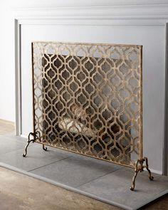 Horchow Lexington Single-Panel Fireplace Screen